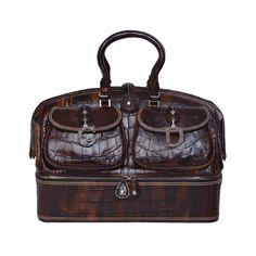 John Galliano Dior '05 Luxury Limited Edit.'Voyage'Crocodile Handbag $32,270 | 1stdibs.com