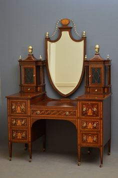 Gillows Mahogany And Inlaid Bedroom Set ~ Antiques Atlas.com