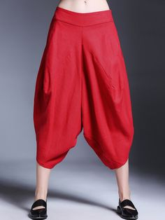 Ladies Capri Three Quarter Paper Bag Waist Trousers Elasticated Belt Tie Waist