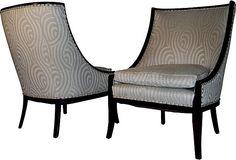 Swirl Chairs, Pair on OneKingsLane.com 27″L × 25″W × 36″H $3495