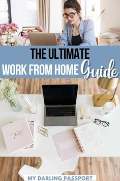 The Ultimate Work from Home Guide. Are you new to working from home? There are some important things to keep in mind to ensure you have a successful WFH experience and that productivity doesn't slip. I've been working from home for years. I have an arsenal of tips and advice to help you be successful when you work from home. Here's the ultimate guide to working from home! Tips to Work from Home | Productivity Tips | Tips for Working Remotely | Cute Office Supplies, Pajamas All Day, Passport Travel, Travel Jobs, Dinner With Friends, Work Activities, New Things To Learn, Feeling Overwhelmed, Communication Skills