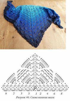 Scarf crocheted from LiLu's fairytale yarns: Eisprinz shop. Scarf crocheted from LiLu's fairytale yarn: Eisprinzshop.de / …Pattern crochet with need Poncho Au Crochet, Crochet Shawl Diagram, Crochet Shawls And Wraps, Crochet Chart, Crochet Scarves, Crochet Motif, Crochet Clothes, Crochet Lace, Crochet Stitches