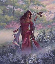 CLIODHNA Irish/Scottish, Goddess of beauty and the otherworld. A Tuatha sea and Otherworld Goddess of beauty. It was said that her three magickal birds could sing the sick to sleep and cure them.