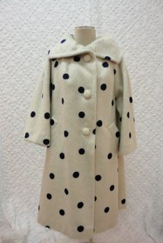 // 1950s blue polka dot mohair coat - ugh so fantastic