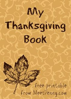 free printable Thanksgiving book
