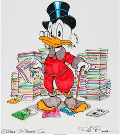 Disney, Don ROSA, Uncle Scrooge original illustration - W.B.