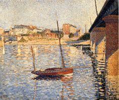 Le Clipper, Asnieres - Paul Signac -1887 ( Pointillism style) ............. #GT