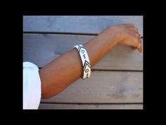 Porcelain bracelet Ceramic Cuff Bracelet Hand Painted contemporary ceramic jewelry - YouTube
