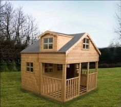 1000 images about kid 39 s playhouse on pinterest for Wooden wendy house ideas