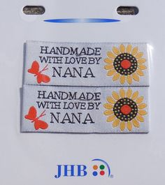 Sewing Labels Nana 2 per pkg woven labels by GabbysQuiltsNSupply