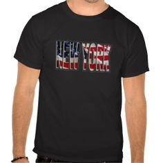 Shop new york american usa flag text tshirt created by JmcksHolidayTshirt. Personalise it with photos & text or purchase as is! Summer Tshirts, Usa Flag, New York, American, Mens Tops, T Shirt, Shopping, Supreme T Shirt, New York City
