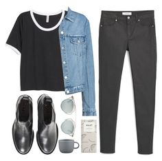 """Postgrad"" by soym ❤ liked on Polyvore featuring MANGO, H&M, Acne Studios, Christian Dior and CB2"