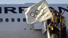 14/08/2012 - London 2012: Olympic flag arrives in Rio de Janeiro