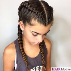 Braiding is a beautiful way to switch up your style when you're tired of buns, ponytails, or leaving your hair down. Dutch braid hairstyles, in particular, are a stunning solution for special… French Braid Hairstyles, Box Braids Hairstyles, Down Hairstyles, Sporty Hairstyles, Trending Hairstyles, Two Dutch Braids, French Braids, French Braid Pigtails, Double Dutch Braid