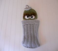 CROCHET PATTERN  Fans of Oscar Hat and Trash by FireflyPatterns, $4.00 - Bought the pattern and made this today...SO cute, can't wait to put it on my little guy :)