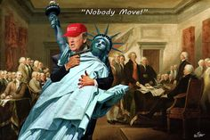 Donald Trump Digital Art - Nobody Move by Barry Kite
