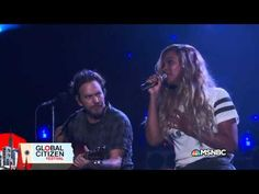 Beyonce and Pearl Jam - Redemption Song at 2015 Global Citizen Festival HD - YouTube