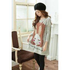China Fashion Online Shop Grauer Übergrößen Pullover