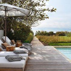 Outdoor Seating Areas, Outdoor Spaces, Outdoor Living, Outdoor Decor, Garden Deco, Garden Pool, Weekend Vibes, Summer Vibes, Montauk Project