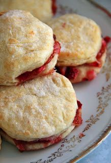 Jo and Sue: Strawberry Shortcake Scones and Cheesecake Stuffed Strawberries