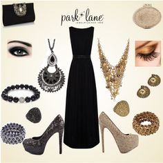 """""""Which would you wear to a wedding?"""" by parklanejewelry on Polyvore Which would you wear to a wedding: The gold or hematite?  Www.gotparklane.com"""