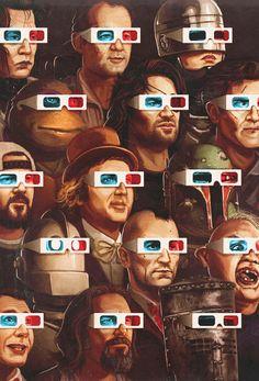 "Mike Mitchell ""Crazy 4 Cult Show Poster 3d Cinema, Films Cinema, Anim Gif, Gif Animé, Animated Gif, Jasper Johns, Cultura Pop, William S Burroughs, Mike Mitchell"