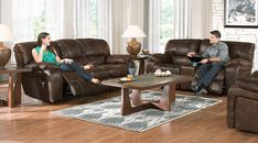picture of Cindy Crawford Home Alpen Ridge Brown 3 Pc Reclining Living Room from  Furniture