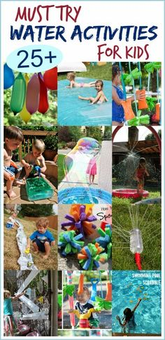 Must Try Water Activities for Kids; the most fun ideas I've seen! Much more here than just water ideas.