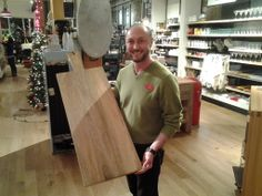 Love this! Out shopping for Gifts Under 100 on South Granville and had such a fun time shopping with Jay at West Elm Market Vancouver! Here he is with their Oversized Platter, made of solid mango wood at $89. Jamie Oliver also recommends serving food on an oversized platter.