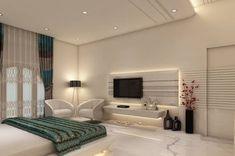 Master Bedroom: modern Bedroom by K Mewada Interior Designer Modern Master Bedroom, Tv In Bedroom, Modern Bedroom Design, Master Bedroom Design, Bedroom Designs, Master Suite, Bedroom Photos, Bedroom Simple, Trendy Bedroom