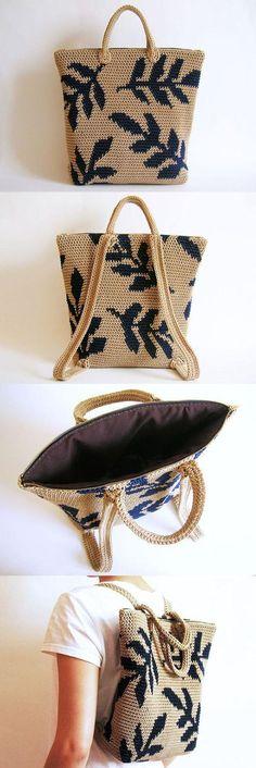 Leaves Backpack Crochet Pattern More