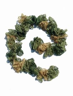 Crochet Ruffle Scarf, Army Scarf, Camo Scarf, Ruffle Scarf, Crochet Scarf, Green Scarf, Lightweight Scarf, Lacy Scarf, Woman Scarf,Army Wife