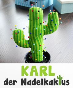 Knitting Patterns For Kids Sewing instructions 'Karl the Nadelkaktus' Pincushion / Pincushion for children and Nähanfänger Diy Sewing Projects, Sewing Hacks, Sewing Crafts, Sewing Kit, Fabric Crafts, Paper Crafts, Felt Decorations, Sewing For Beginners, Textiles