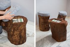 Paperback Stump Stool by Monroe Workshop. Cute extra seating that doubles as a hiding spot!