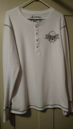 5f54ad98f1d1a8 Mens size XL white long sleeve thermal-type weave polo  fashion  clothing