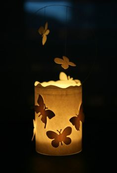 DIY Paper Butterfly Candle Light