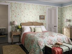 'Mary Isobel' - Archive III wallpaper with 'Artichoke embroidery' - Woodland Embroidery.
