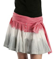 Ben Carbonne - Tri Color Tie and Die Skirt  Tri colored mini skirt. This naughty number can never go wrong. Wear with a plain white or black sleeveless top and team with white moccasins to complete the look.