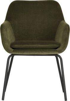 vtwonen Mood Eetkamerstoel - Fluweel - Groen - Set v2 Interior Concept, Dining Arm Chair, Metallic Paint, Seat Cushions, Armchair, Velvet, Furniture, Design, Products