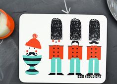 Toddler Boy Gift 'Egg & Soldiers' Placemat. $12.80, via Etsy.