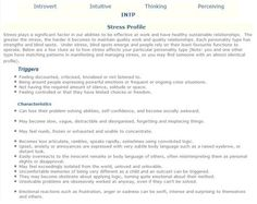 INTP Stress Profile : INTP ~Shit I didn't expect this to be so accurate, I can tick off everything on here