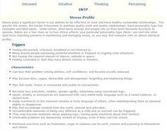 INTP Stress Profile : INTP