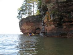 Being On Lake Superior in the Apostle Islands near Bayfield Wisconsin