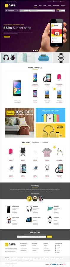 Sara is a fast and effective #WordPress theme for multipurpose #electronics #shop eCommerce website with 8 stunning homepage layouts download now➯ https://themeforest.net/item/sara-woocommerce-wordpress-market-theme/16572433?ref=Datasata