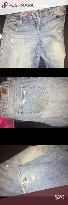 American eagle jeans Size 10 has a rip at the bottom of one leg American Eagle Outfitters Jeans Boot Cut