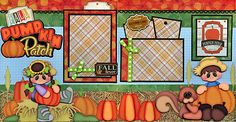 PUMPKIN-PATCH-FALL-2-premade-scrapbook-pages-paper-piecing-4-album-BY-CHERRY
