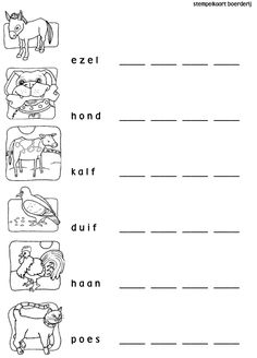 Stempelen: boerderij Farm Lessons, Printable Activities For Kids, Farm Theme, Bible Crafts, Learning Resources, Print Pictures, School Projects, Spelling, Worksheets