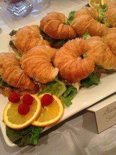 Chicken salad croissant.