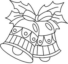 dibujo de campanas de navidad para colorear - Buscar con Google