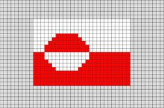 Flag of Greenland Pixel Art from BrikBook.com #Greenland #FlagofGreenland #Greenlander #Greenlandic #pixel #pixelart #8bit Shop more designs at http://www.brikbook.com